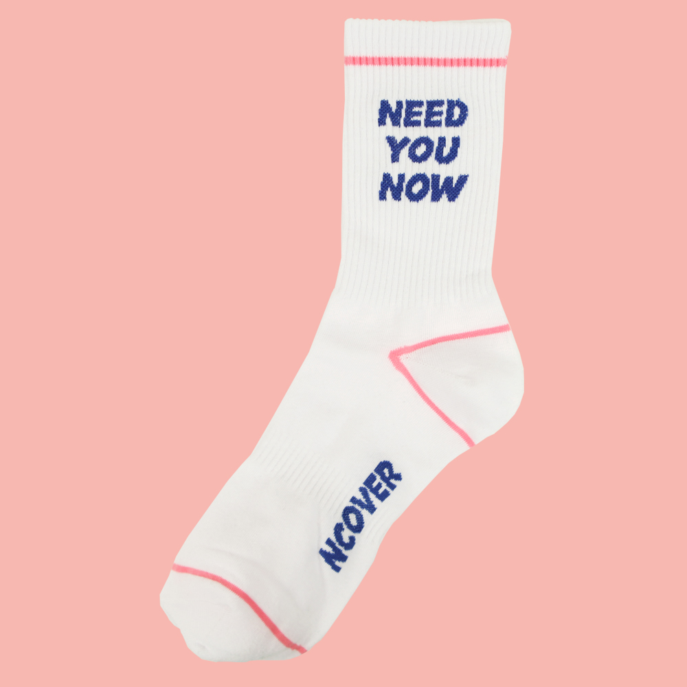 [앤커버] Need you now socks-white/pink