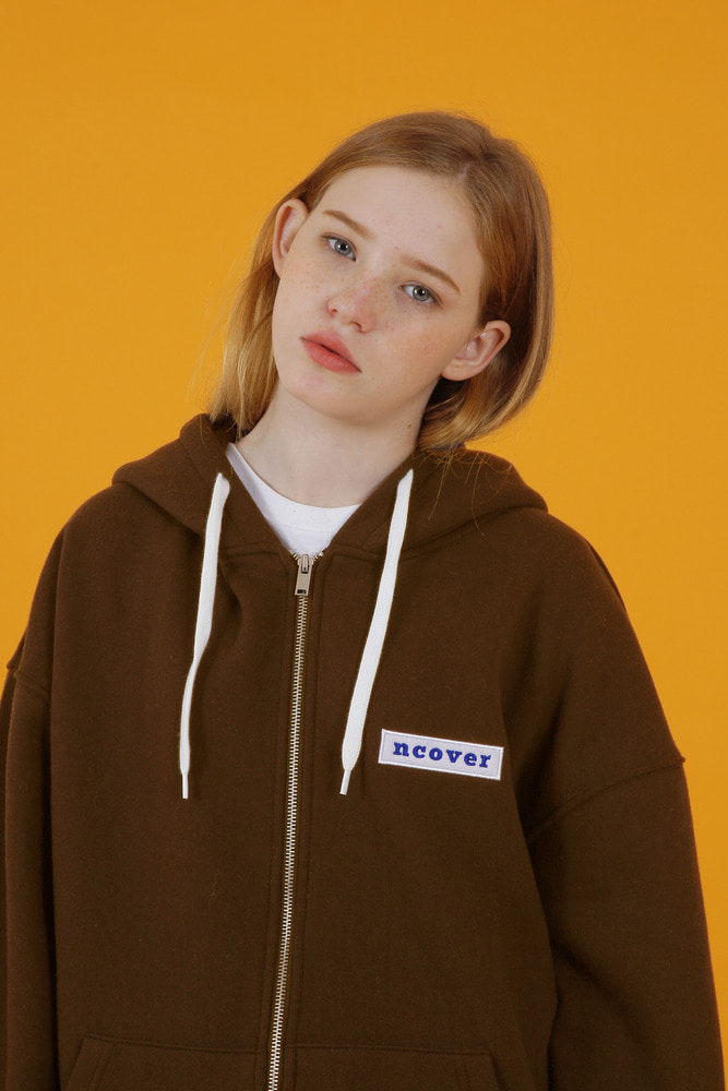 [35%SALE][앤커버] Ncover hoodie zipup-brown (기간한정세일 4.12 - 4.18)