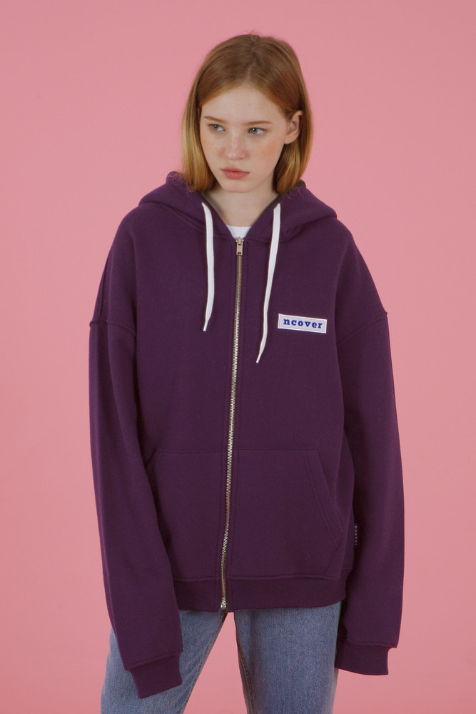 [35%SALE][앤커버] Ncover hoodie zipup-purple (기간한정세일 1.18 - 1.24)