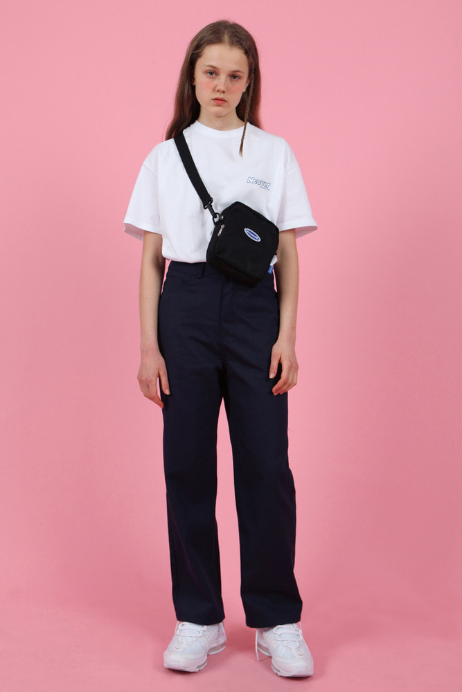 [Hot summer 35%Sale 6.21 - 6.27] Straight cotton pants-navy