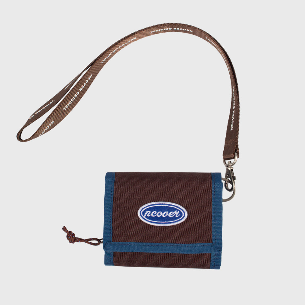 [Summer 70%Sale 6.14 - 6.20] Ncover logo necklace wallet-brown