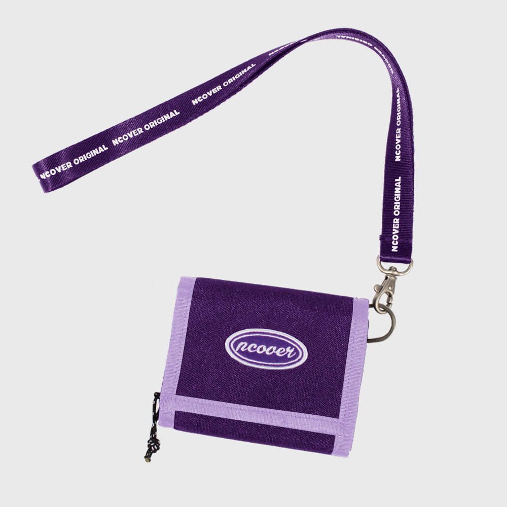 [앤커버] Ncover logo necklace wallet-purple (기간한정세일 11.09 - 11.15)