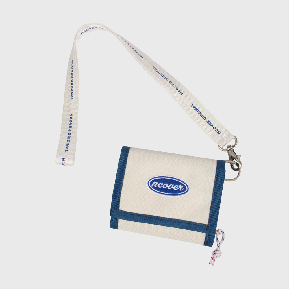 [앤커버] Ncover logo necklace wallet-ivory (기간한정세일 09.14-09.20)