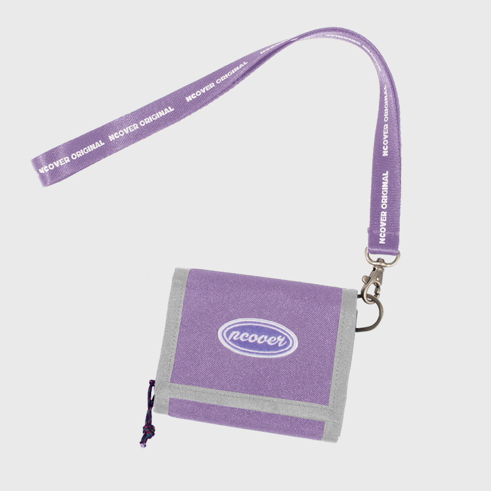 [앤커버] Ncover logo necklace wallet-light purple (기간한정세일 12.14 - 12.20)