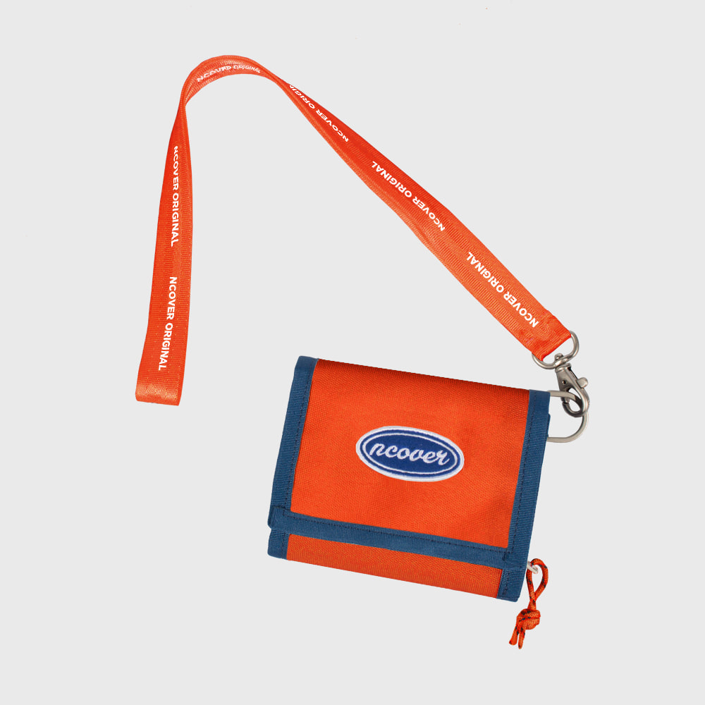 [앤커버] Ncover logo necklace wallet-orange (기간한정세일 11.09 - 11.15)