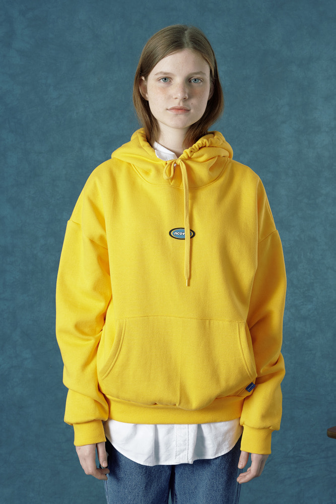 [Crazy Sale 41% 8.09 - 8.18] Rubber logo hoodie-yellow