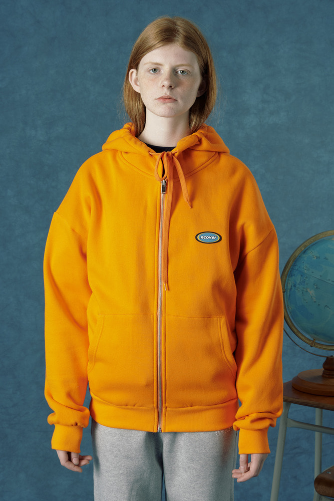 [Hot summer 35%Sale 6.21 - 6.27] Rubber logo hoodie zipup-orange