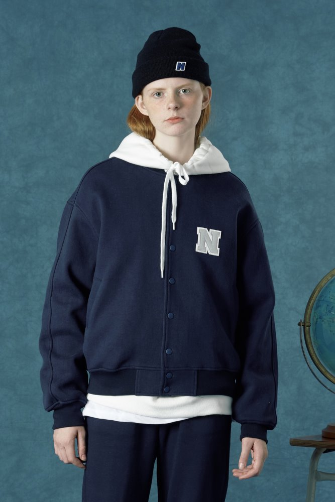 [Hot summer 35%Sale 6.21 - 6.27] Baseball jacket-navy
