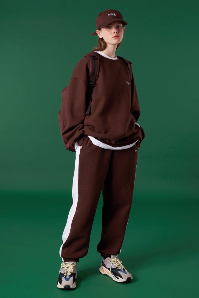 [기간한정세일 01.22 - 01.28]ORIGINAL SMALL LOGO TRAINING PANTS-BROWN