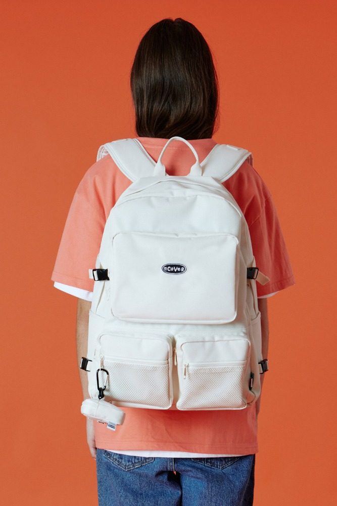 [기간한정세일 09.11 - 09.17][N]Two pocket original backpack-ivory