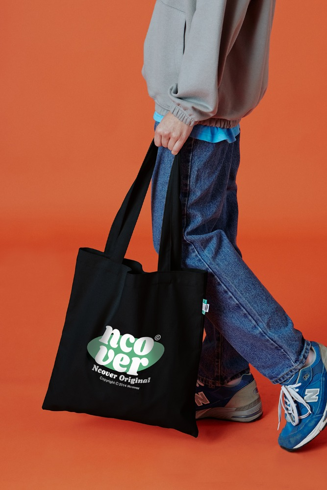 [기간한정세일 10.16 - 10.22][N]Ellipse tile logo eco bag-black
