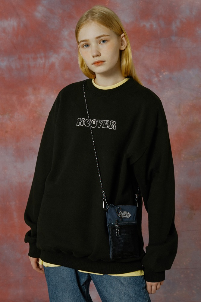[기간한정세일 01.08 - 01.14]HOTFIX LOGO SWEATSHIRT-BLACK