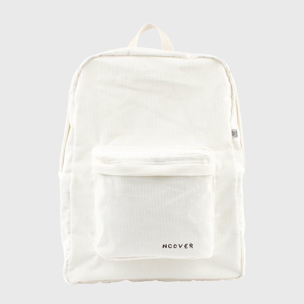 [앤커버] Ivory-corduroy backpack