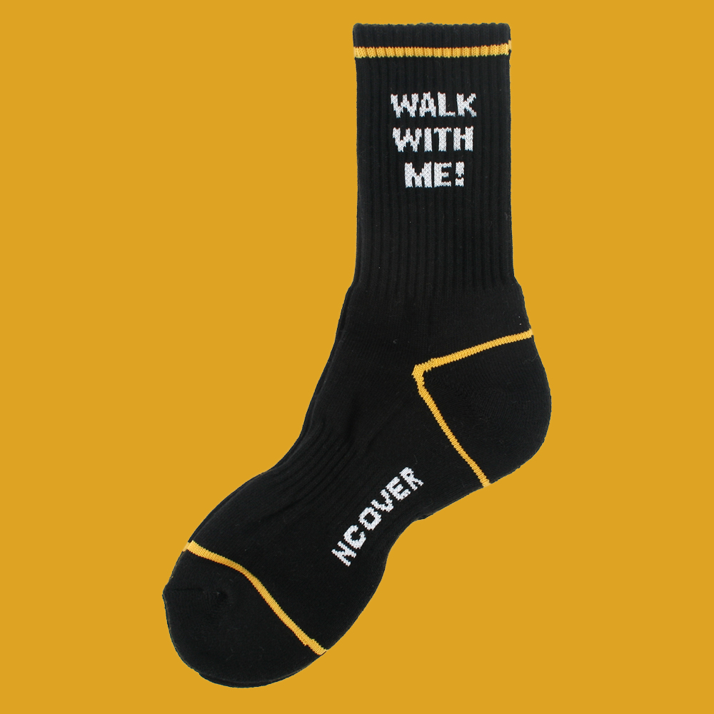 [앤커버] Walk with me socks-black