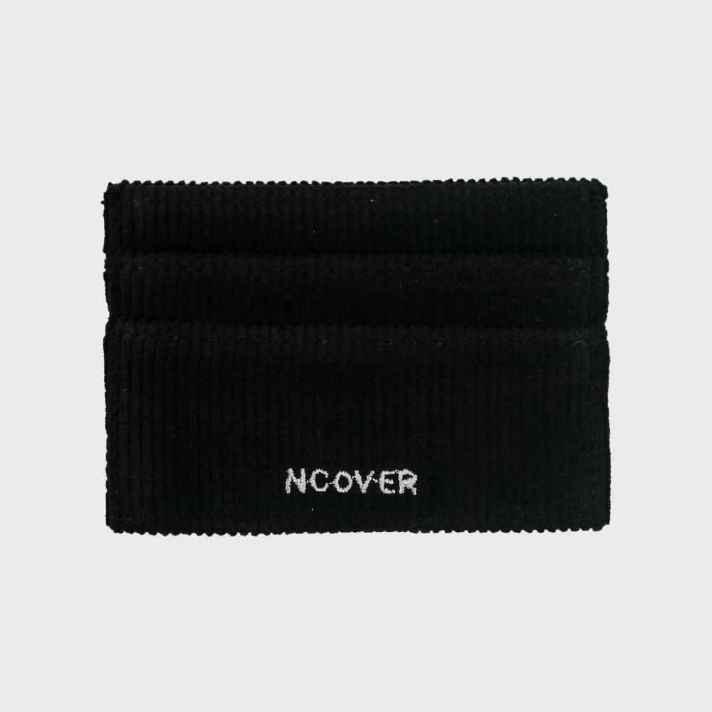 [앤커버] corduroy line card wallet-black THANK YOU 50% SALE! (07.20-07.26)