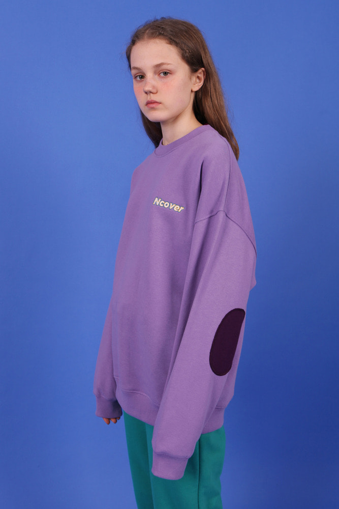 [앤커버] Elbow point sweatshirt-light purple (기간한정세일 07.20-07.26)