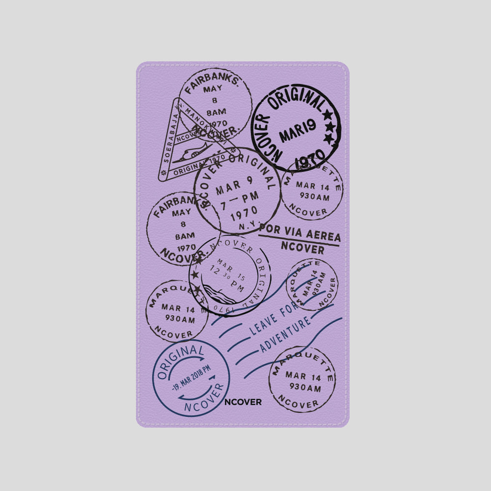 [앤커버] Travel stamp-purple(battery) THANK YOU 50% SALE! (4.13-4.19)