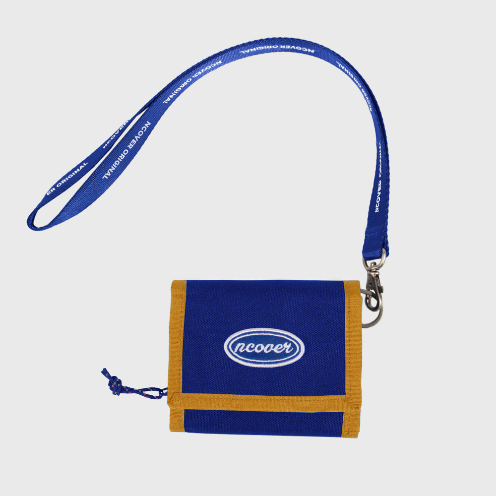 [앤커버] Ncover logo necklace wallet-blue[4월 30일 예약배송]