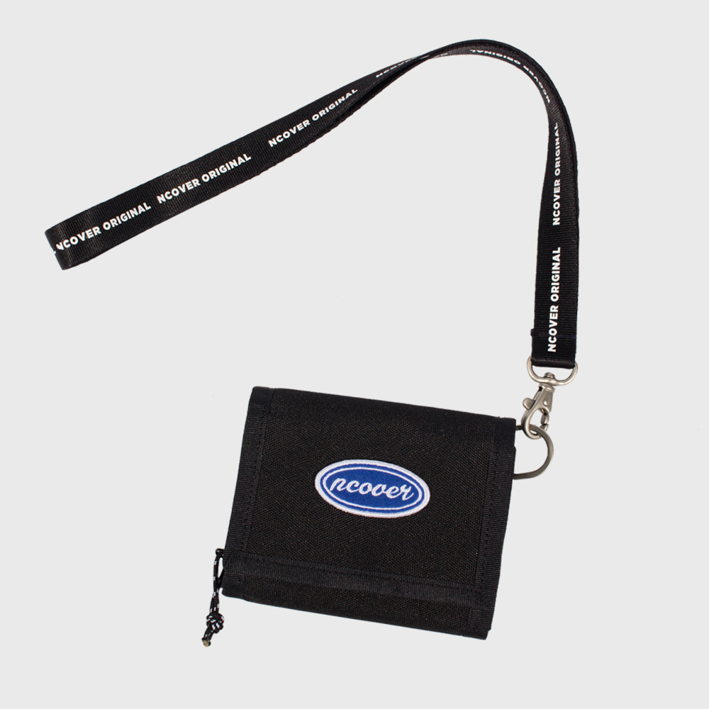 [앤커버] Ncover logo necklace wallet-black (기간한정세일 07.06-07.12)